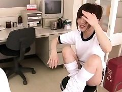 Kinky Asian schoolgirl coochie pleasured