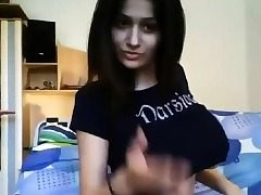 Hot arab teen tries the lovense toy