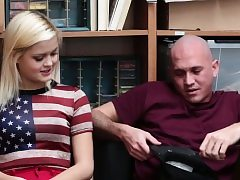 Blonde babe Madison gets a steaming sex from a kinky cop