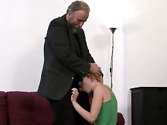 Foolish woman gets fucked by his dad