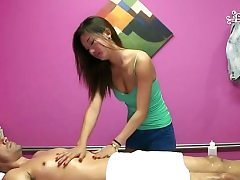 Prosperous client gets a peculiar treatment in a massage sesh