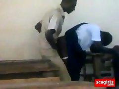 teen african college girls smashing doggstyle in class