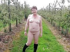 Saucy Nude Ramble Through an Apple Orchard
