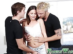 Stepsis Expect Howell double drilled before facial cumshot