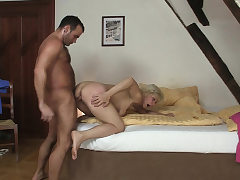 Cheating fuckfest with hot blonde mother-in-law