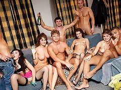 Rock-hard college girl assfucking fuck-a-thon at B-day shag soiree
