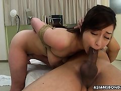 Big-boobed Asian chick, Maria Ono got corded up and pulverized