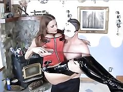 Hot bitch clothed enormously sexy about to have hump with this dude dressed in a mask